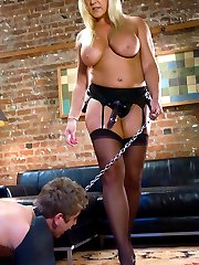 Alexis towers over her groveling man-meat in a made-to-order man-eating porn flick for your...