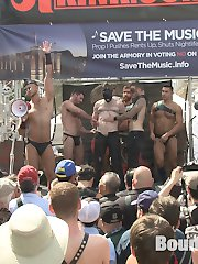 Folsom Street Fair 2015 roars with full force, as thousands of people watch Cass Bolton used and abused on stage by Sebastian Keys, Jessie Colter and Christian Wilde. Cass' gigantic balls take a nasty flogging as Cass gets rigged up for a suspension, while attached to Billy and Seth Santoro's clover clamps pinching on their nipples. Sebastian plunges a silicon fist deep into Cass as he swings over the stage. Flashing back to the eve of Folsom, Cass gets lead to an underground sex party and serves the whims of latex-clad doms. The party goers pass the slut from one dick to the next as he takes a brutal cropping, even fitting three dicks his mouth at once. They run a train on Cass' gaping hole, pinning him to the ground and fucking him piledriver. Cass' face is covered in strangers cum, but the party is only getting started...