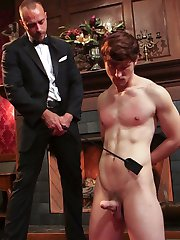 Scotty Zee is a filthy little whore. Horny for punishment, Scotty finally musters the courage to call Jessie Colter for his expert services. The boy arrives at Jessie's lounge and quickly falls under Jessie's spell. Standing by the roaring fireplace, Scotty strips at Jessie's command. He peels down his boxers to reveal his hard dick standing at attention. Jessie crops the boy and makes him declare just how much of a filthy whore he is. Scotty hungrily gags on Jessie's dick as Jessie promises that the torment's only begun. Jessie takes Scotty to the far side of the lounge, covers his body in rope and fixes him to the ceiling. Blinfolded, Scotty only gets harder as he feels Jessie's rough touch. Unknown to Scotty, Jessie has his flogger in hand. Jessie twirls Scotty's dick before letting the flogger loose all over his body. Scotty's legs are brought up from the floor while Jessie covers Scotty in clothespins. Jessie removes the pins one by with his crop, the power of each blow making Scotty swing in the suspension. Now that Scotty's warmed up, Jessie takes him to the stockade and paints Scotty's ass with hot wax before ramming his whole length into Scotty's tight hole. Jessie milks a load from the boy and swings around to the front of the stocks to cover the boy's face in cum. As a parting gift, Jessie drips more wax onto a cumdrunk Scotty.