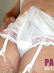 Lots of close up shots of pantie boys with big hard cocks inside their sexy little knickers