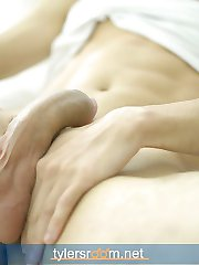 Smooth and toned Riley is 20 and a student from London, England. Enjoy this young man's solo as he shoots a big load on his bed.