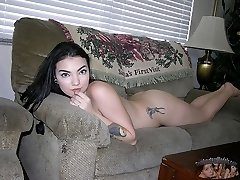 Sexy Tattooed Amateur Black Haired Babe - Aries Model