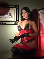 Gianna lynn masturbating in sexy satin lingerie and heels