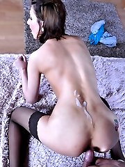 Sassy hussy readily launches into sixty-nine before taking it up the butt