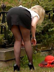 Outsite in Outsite Black sheer Pantyhose