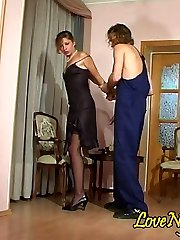 Dark-hued-stockinged stunner coerced into screwing by a lusty nylon crazy plumber