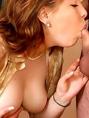 Sultry milf in control top stocking ready for breathtaking humping in office