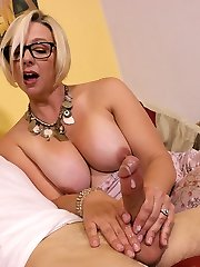 Archie Gets Fapped By Step Mom Brianna - MILF and Mature Handjob Videos Over 40 Handjobs