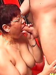Get that old mouth filled with cock and cum