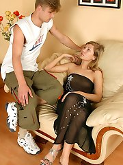Mind-blowing anal workout by lascivious hottie armed with huge strap-on