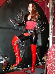 Gorgeous femdom Strapon Jane posing for the camera