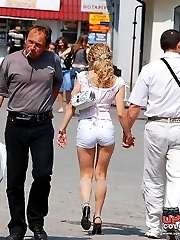 Short pants looking hot on teenie