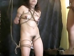Ferocious Asian suspension bondage and torture