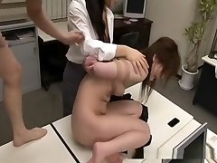 Asian sweetie bounded and fucked by 2 guys