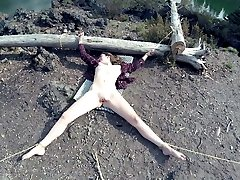 Trussed up, used, and nutted on outdoors PREVIEW