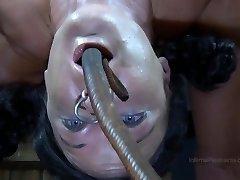 Strappado Bondage, claustrophobia and orgasm predicament bondage for captive