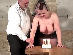 Victim Bunnys birthday breast whipping and celebratory