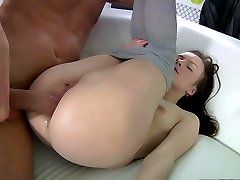This is really the first anal sex in her life, and she asked us to be very attentive and...