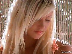 Great blonde babe Dakota gets naked part2
