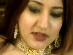 Arabian princess rides white trunk and loves anal