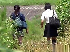 Oriental bizarre teenies pissing