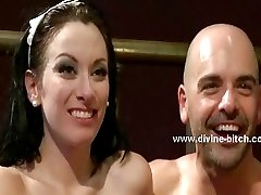 Beautifull brunette maid divine bitch