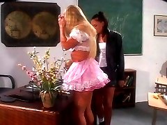 Girl fun in the classroom