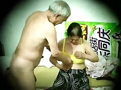Asian old man mature duo hidden camera 老头 老夫妻