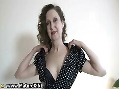 Erotic older lady in sexy undergarments loves part4