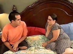 Sexy BBW Mom Seduces Horny Youthful Stud