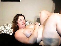 Amateur dark-haired slut with natural boobs
