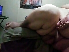 Ssbhm stroking on the edge of the bed