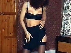 Vintage mature stockings striptease dance