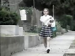Shy young dame gets fucked by crazy dude on her way to school