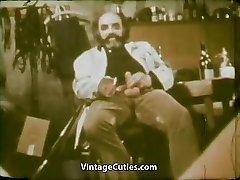 Girl Eating Cum of Ugly Older Man (1970s Vintage)