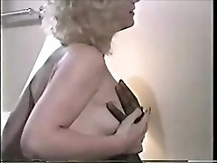 Retro cuckold video wife and 2 Big Black Cock