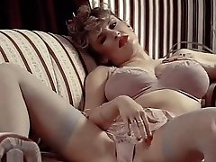 LINGERIE DAYDREAM - vintage 80's thick tits in stocking