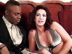 Sophia Ferrari Sean Michaels interracial ass-fuck italian brunette classic antique retro doggie-style