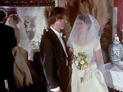 gloved hand-job vintage wedding scene