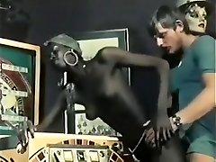 Best Ebony and Ebony, Vintage porn scene