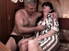 Vintage French sex flick with a mature hairy couple