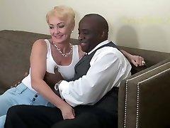 Blonde Sex Addict Pulverizes Black Man Hard. Classic