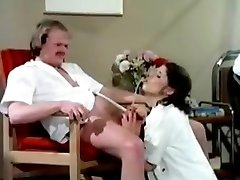 Pissing patient having wet fun in hospital