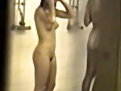 Classic hidden college shower tape with hot girls - enlargened quality & slowmo