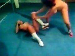 Humungous Boob Retro Wrestling