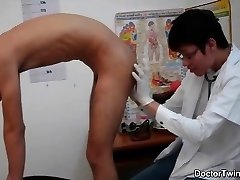 Doctor lad naughty ass checkup