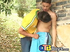 Latino twink raw fucks for facial after deep-throating dick