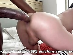 Big black man sausage in white ass