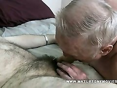 Obese Grandad Gets His Ass Stuffed