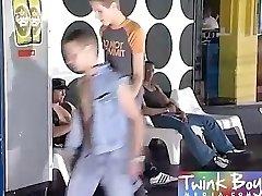 Twink Boy Media Dark-hued cock in his lad ass